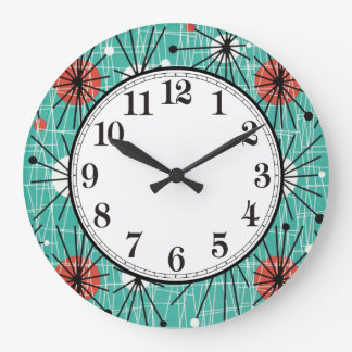 Atomic Turquoise Wall Clock