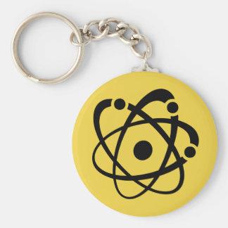 Atomic Wonk Basic Round Button Key Ring