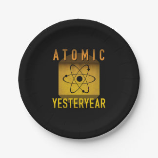 Atomic Yesteryear Paper Plate