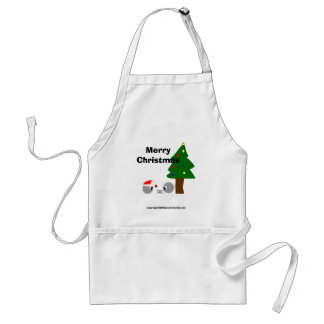 atoms cup design christmas, Merry Christmas, co... Adult Apron