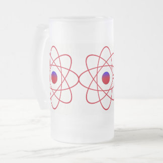 Atoms Frosted 16 oz Frosted Glass Mug