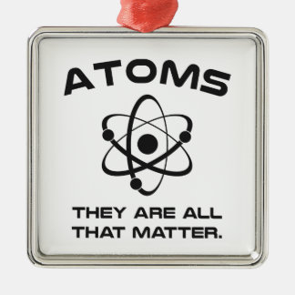 Atoms They're All That Matter Silver-Colored Square Decoration