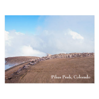 Atop Summit of Pikes Peak Postcard