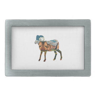 ATOP THE VALLEY RECTANGULAR BELT BUCKLE