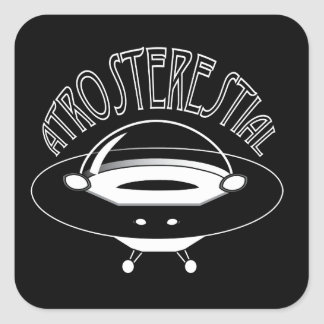 Atrosterestial Spaceship Square Sticker