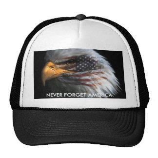 ATT987427, NEVER FORGET AMERICA TRUCKER HATS