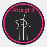 Atta Girl! Round Sticker