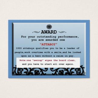 attaboy certificate