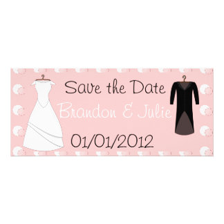 Attach and Groom clothes save the date Custom Announcements