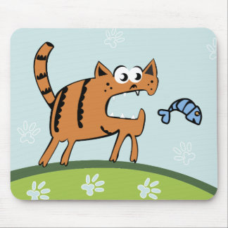 Attack Cat Mouse Pad