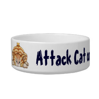 Attack Cat - Pet Dish Cat Water Bowls