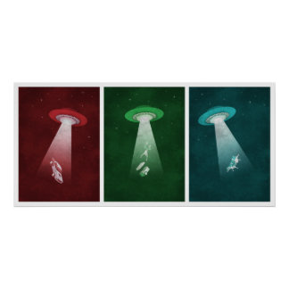 Attack from Mars - Alien abduction poster