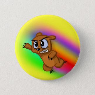Attack Grizzly Ninja - Rainbow Blur! 6 Cm Round Badge