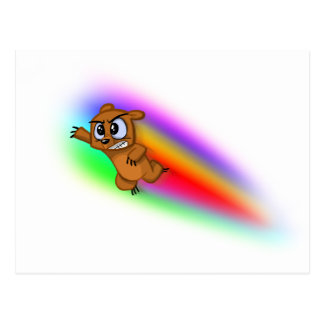 Attack Grizzly Ninja - Rainbow Blur! Postcards