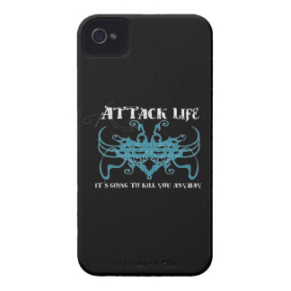 Attack life. It's going to kill you anyway iPhone 4 Case-Mate Case