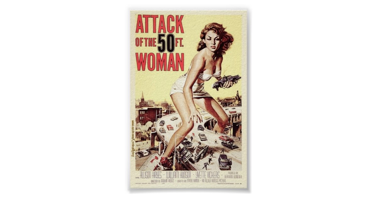 Attack of the 50 foot woman 1958 poster for Attack of the 50 foot woman t shirt