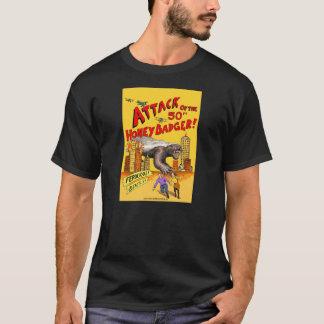 Attack of the 50ft Honey Badger! men's T-shirt
