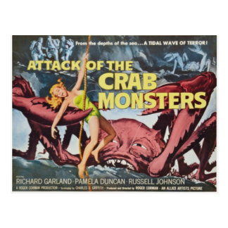 Attack of the Crab Monster Postcard