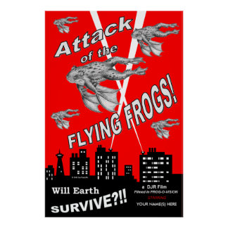 Attack Of The Flying Frogs Poster