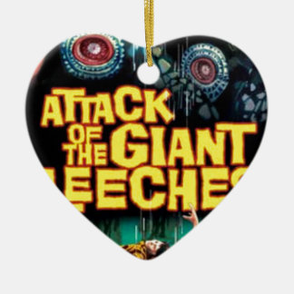 Attack of the Giant Leeches Ceramic Ornament