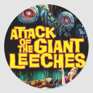 Attack of the Giant Leeches Classic Round Sticker