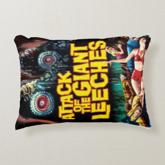 Attack of the Giant Leeches Decorative Cushion