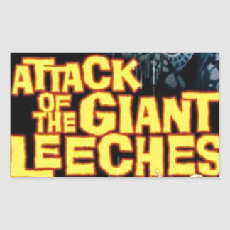 Attack of the Giant Leeches Rectangular Sticker