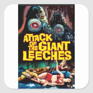 Attack of the Giant Leeches Square Sticker