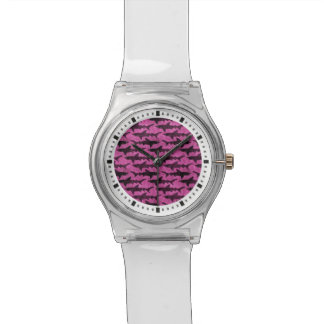 Attack of the Hot Pink Sharks Funny Watch