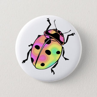 Attack of the Psychedelic Ladybug Round 6 Cm Round Badge