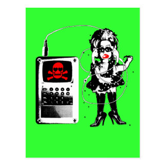 Attack of the Techno-Bimbos!!! Postcard