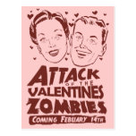Attack of the Valentines Zombies Post Card