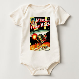 Attack on Planet Mars Baby Bodysuit