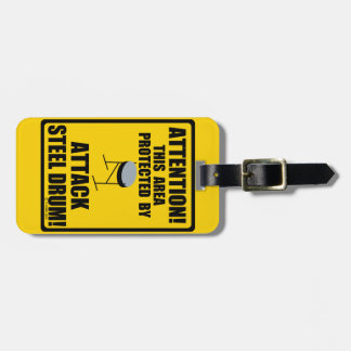 Attack Steel Drum Luggage Tag