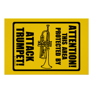 Attack Trumpet Poster