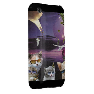 Attacke of the Cool Cats iPhone Case iPhone 3 Case