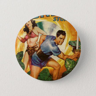 Attacked by Lizards on Mars 6 Cm Round Badge