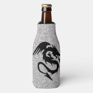 Attacking Dragon on Silver Bottle Cooler