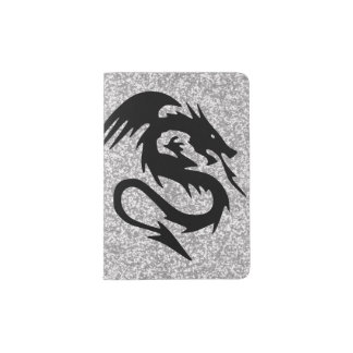 Attacking Dragon on Silver Passport Holder