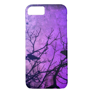 Attempted Murder: Crows, pink / purple skies iPhone 8/7 Case