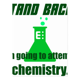 Attempting Chemistry Postcard