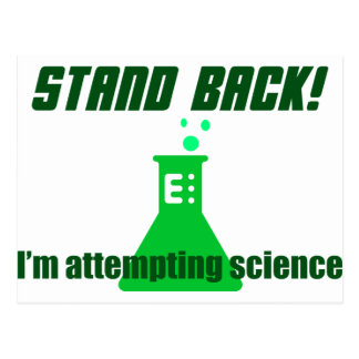 Attempting Science Postcard