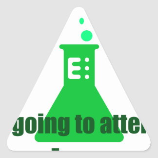 Attempting Science Triangle Sticker