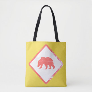Attention Bear Tote Bags