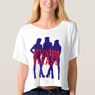 Attention Please New York Womens Girls by VIMAGO T-Shirt