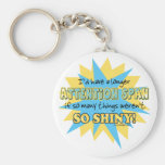 Attention Span Shiny Humour Basic Round Button Key Ring