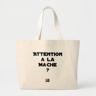 ATTENTION WITH CORN SALAD? - Word games Large Tote Bag