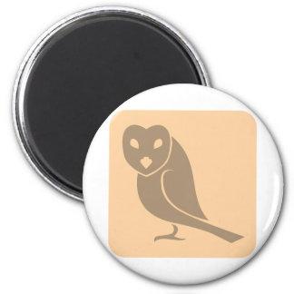 Attentive Owl Icon 6 Cm Round Magnet
