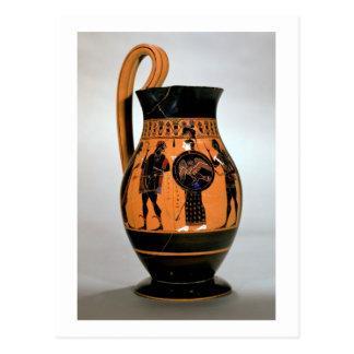Attic black-figure olpe depicting Athena Confronti Postcard