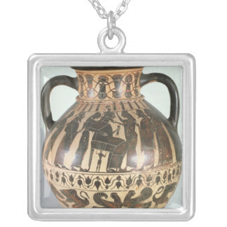 Attic Corinthian amphora Silver Plated Necklace